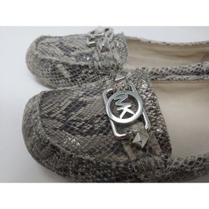Michael Kors Python Embossed Loafers Size 7.5